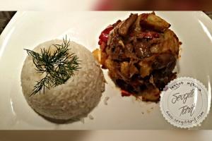 Etli Mantar Yemeği